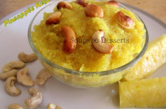 Kesari-Pineapple Pudding