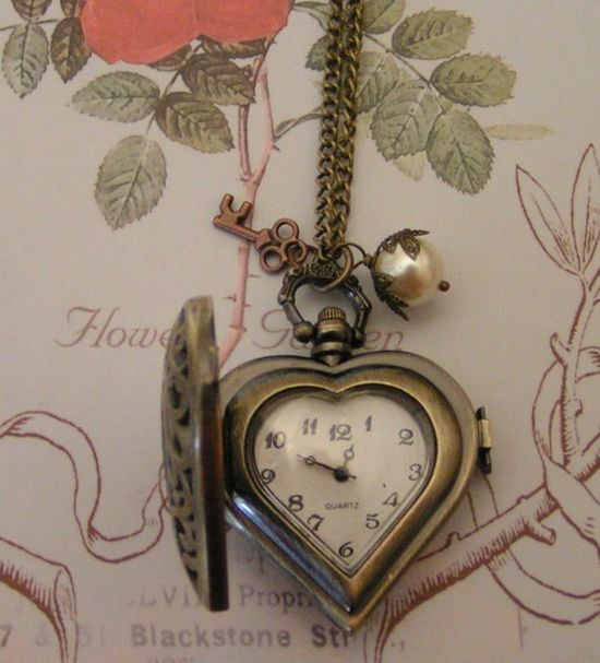 Charming Heart Locket Watch...