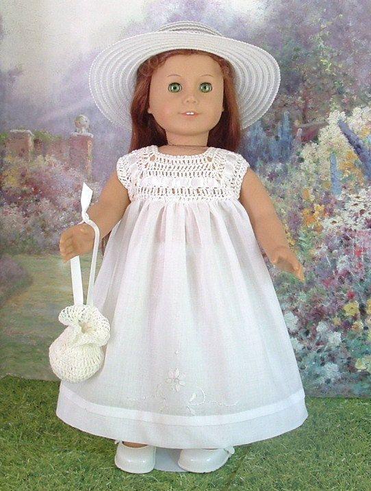White Crochet Summer Dress by MyGirlClothingCoHeir, $75.00