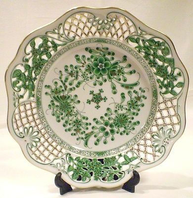 Herend Waldstein green pierced work decorative