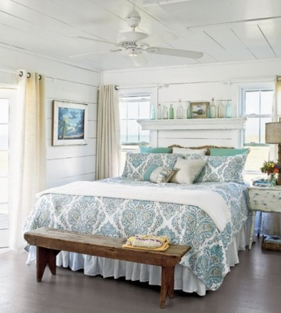 Bedroom decor. Love the bedding