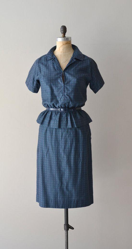 Best Foot Forward dress / cotton 50s dress / by DearGolden on Etsy, $98.00