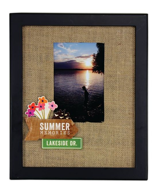 Summer Memories Burlap Frame from @Crafts Direct