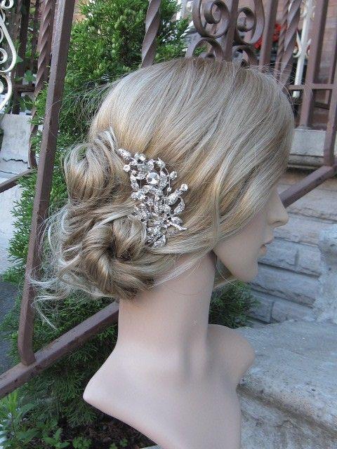 Bridal hair combbridal hair accessorieswedding hair por sustyle88, $49.00
