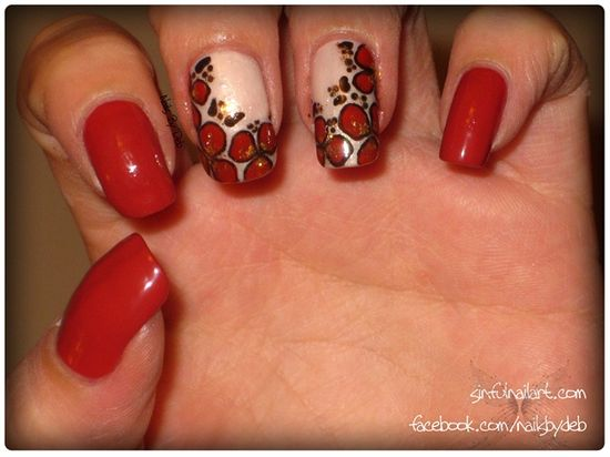 Red Flowers - Nail Art Gallery by NAILS Magazine