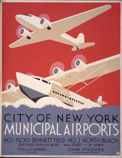 Vintage travel poster for New York #poster