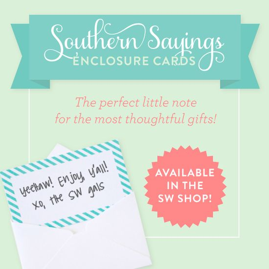 we love these Southern Sayings enclosure cards!