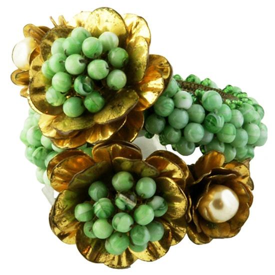 on bklyncontessa :: via ornamenti d'autore : circa 1930s : miriam haskell bracelet designed by f. hess