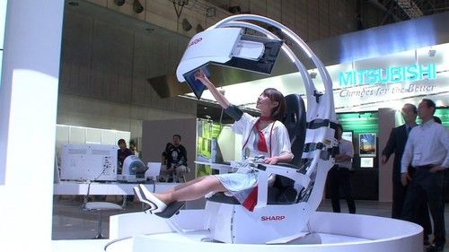Sharp's Futuristic Health Care Support Chair (VIDEO)