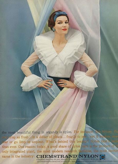 Ruffles enough to please a Tudor! :) #vintage #fashion #dress #1950s #ad