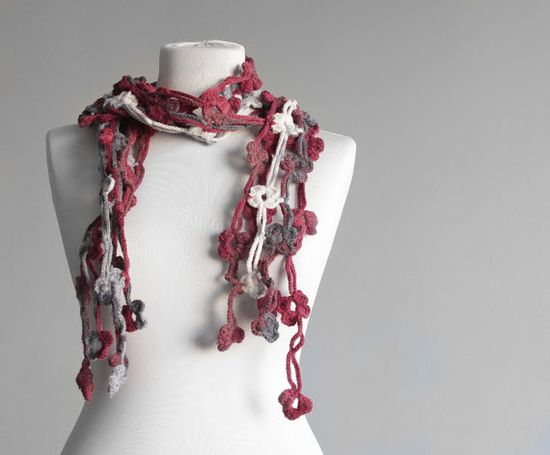 Women Crochet Scarf Floral Accessories  #crochet #scarf #lariat