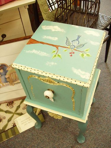 Love this painted end table