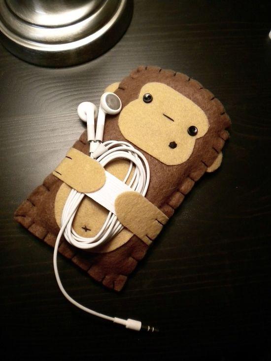 Felt monkey case