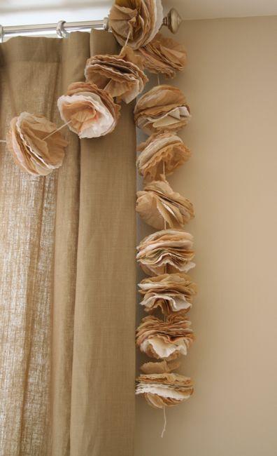 coffee filter garland