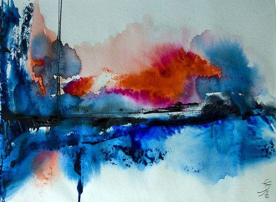 Abstract Watercolor Artwork by Jose F. Sosa, via Flickr