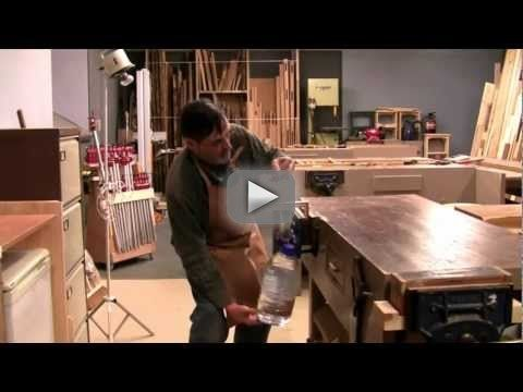 Handmade mitre joint put to the test - by Paul Sellers - Paul Sellers demonstrates the great strength of a handplaned mitre joint. This method uses dovetailed splines embedded into the corners. In this video Paul