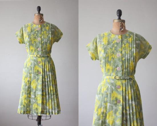 vintage 1950's day dress.