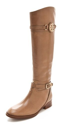 Calista Riding Boots by Tory Burch #Boots #Tory_Burch