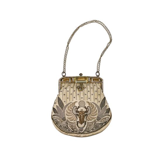 Egyptian Revival Deco Purse, 1920's, France