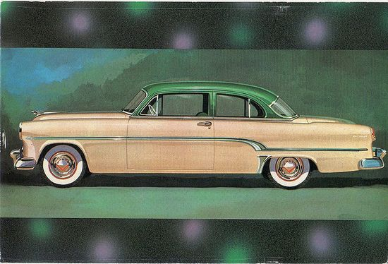 1954  DODGE CORONET  pink /green
