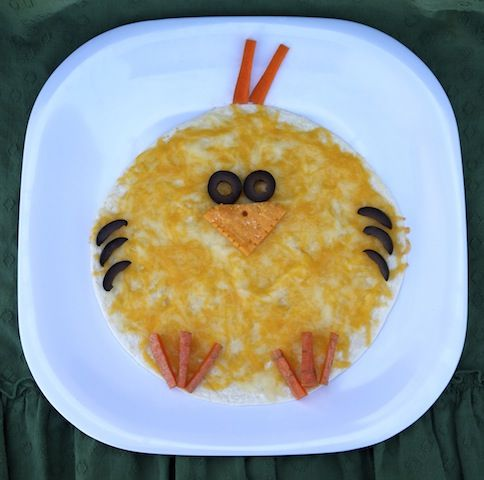 Springy Kids Lunch: Chickadee Quesadilla