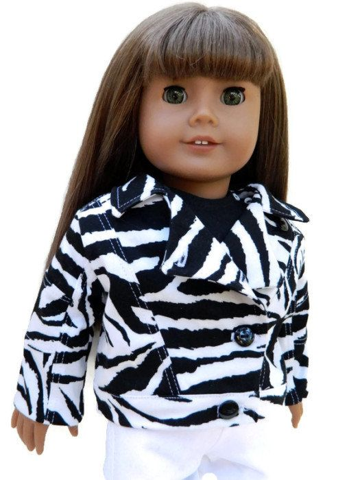 American Girl Doll Clothes  Black and White Zebra by 18Boutique, $25.00