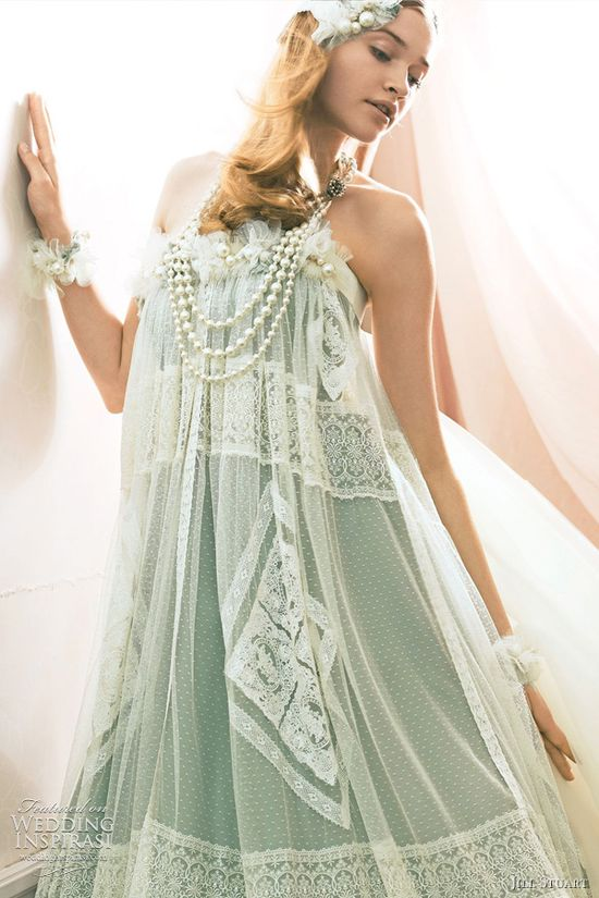 Jill Stuart Wedding Dress Collection 2011 — Print & Color Bridal Gowns