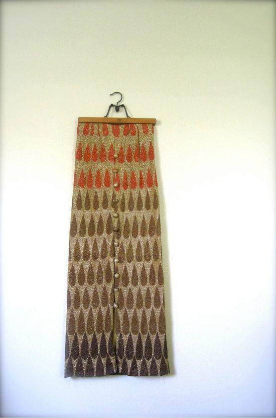 // Vintage Maxi Skirt