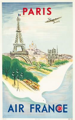 vintage Paris/Air France poster. that is all.