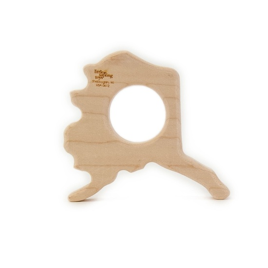 wooden alaska teether baby toy
