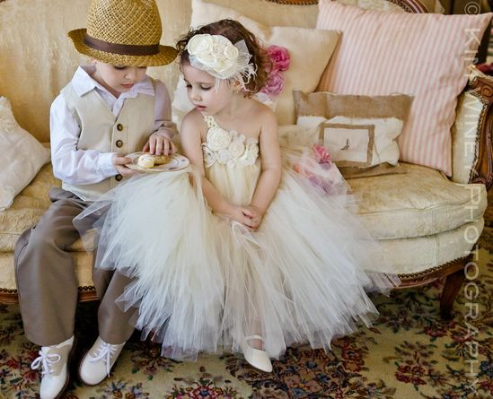 Ivory Vintage flower girl tutu dress, Flower girl dress, tutu dresses, Wedding. $102.00, via Etsy.