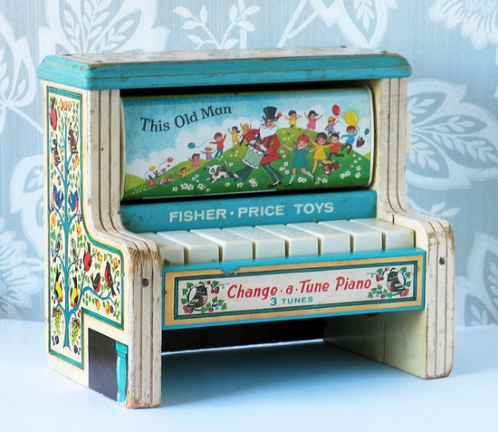 Old toy piano