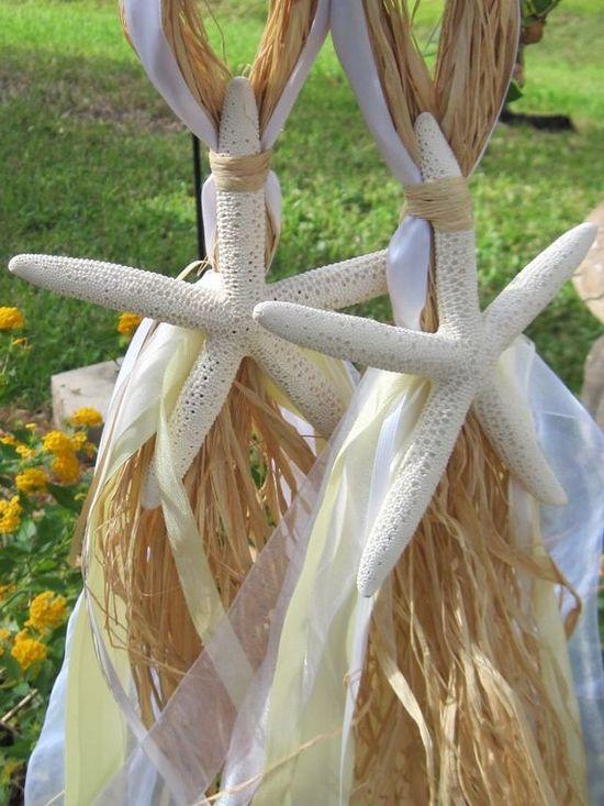 Flowing Pencil Starfish Beach Wedding Decoration