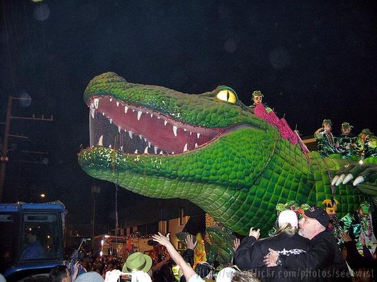 Mardi Gras 2007:  Bacchus Parade on St. Charles Ave.