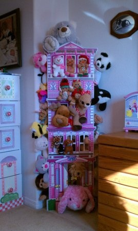 Amazon.com: Cuddle On Inn Stuffed Animal Organizer and Playhouse: Home & Kitchen