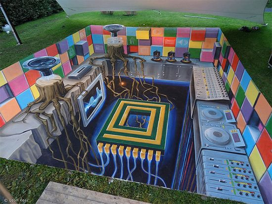 3D street art at Way Out West