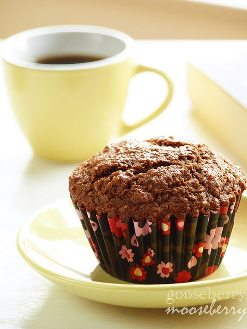 Whole Wheat Chocolate Yogurt Muffins. #food #muffins #breakfast #snacks
