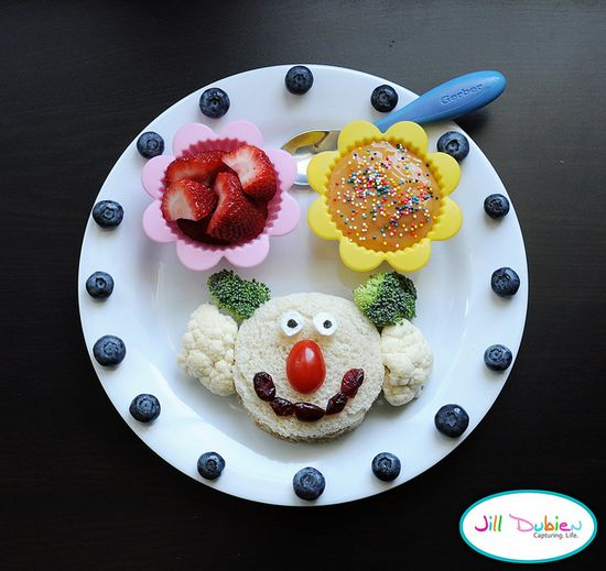 no clowning around with your food!