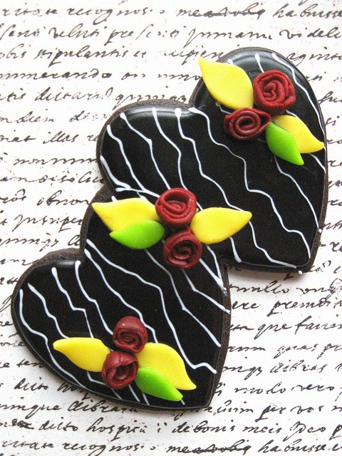 Creative Heart and Rose Cookies