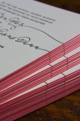 Lucky Luxe custom letterpress invites.