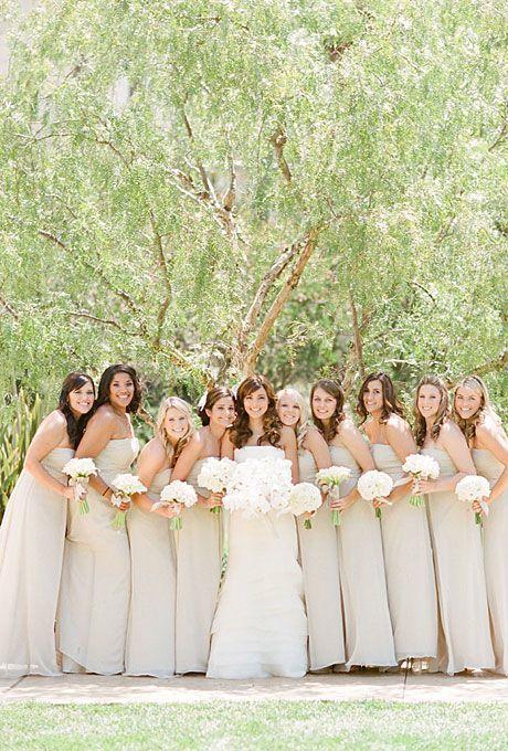 classic neutral wedding color scheme