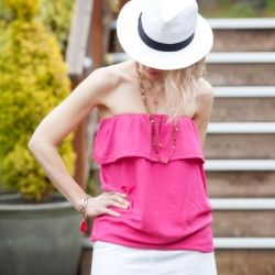 Make a cute ruffled tube top from a t shirt with this simple DIY tutorial.