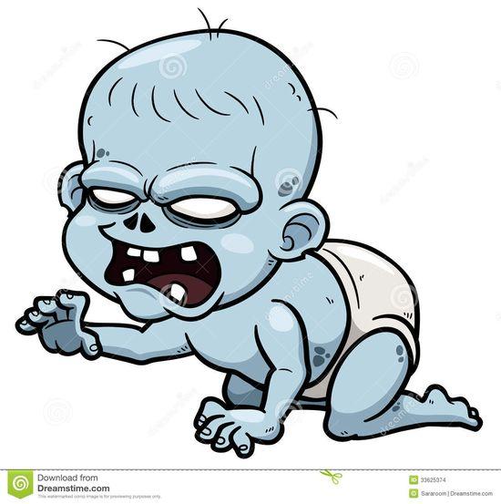 Zombie Baby Floor Decor