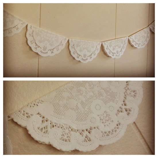 French Lace Doily Garland. $12.00, via Etsy.