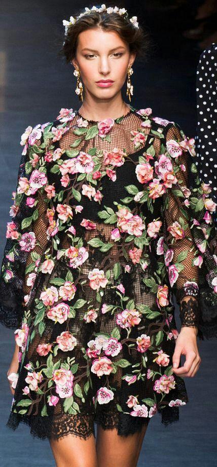 Beautiful flower prints dresss...