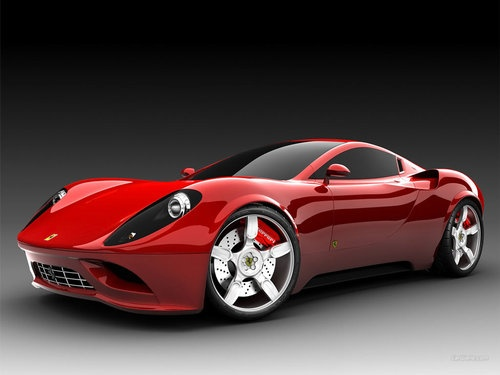 Red Luxury Ferrari