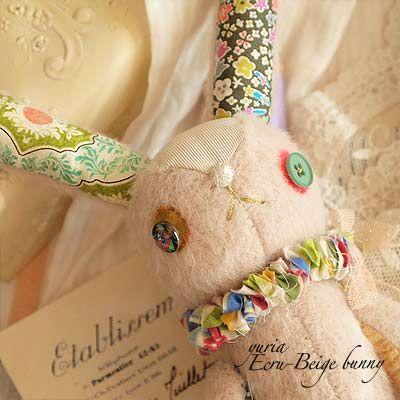 bunny handmade doll ~ www.zakka-minimin...