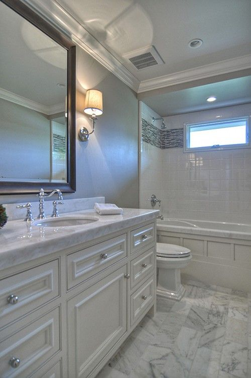 My bathroom is set-up like this - I like the white when it's time to remodel