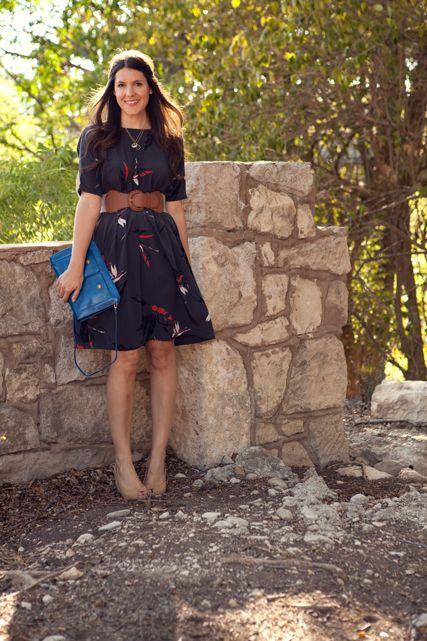 vintage dress + belt.
