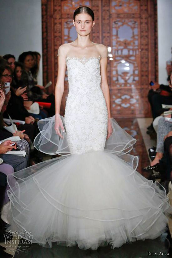 REEM ACRA BRIDAL COLLECTION FALL 2013